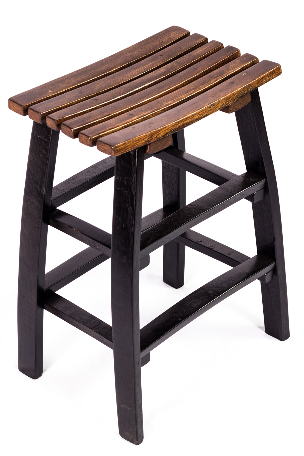 Stave Bar Stool The Oak Barrel Company