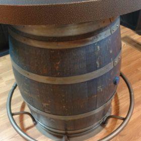 full barrel bistro table blue