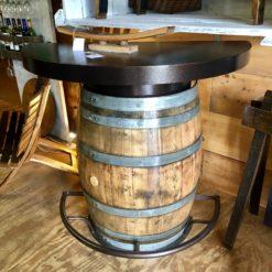 Half Barrel Bistro Bar Natural Outdoor Finish