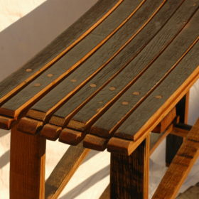 stave stool no back