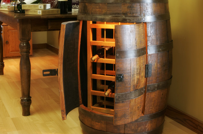 Barrel Wine Rack The Oak Barrel Company
