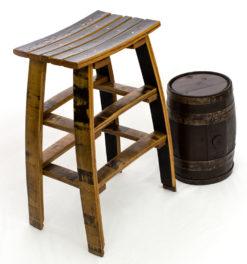 Stave Bar Stool The Oak Barrel Company