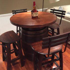 36 diameter 2 inchhardwood top bistro table