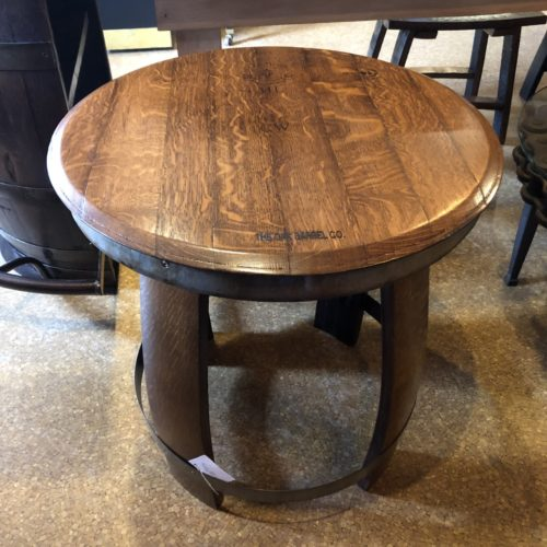 "24"" D Ring Side Table coffee finish"