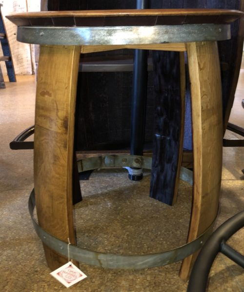 Ring Side Table sideview (lt coffee finish)
